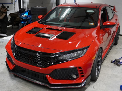 Race Louver Civic RS trim straight angular pair car hood vent designed for street, high performance driving and light track duty.