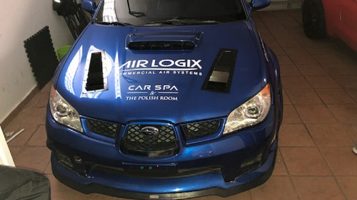 Race Louver WRX '06-07 Nasa ST/TT3-6 Spec side hood vent designed for street, high performance driving and light track duty.