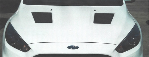 Race Louver 2012-2018 Ford Focus Nasa ST/TT3-6 Spec mid pair car hood vent designed for street, high performance driving and light track duty.