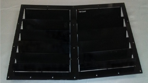 Race Louver BMW E30 84-91 Nasa ST/TT3-6 Spec center car hood vent designed for street, high performance driving and light track duty.