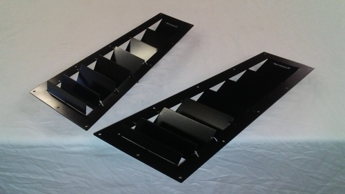 Race Louver RX8 04-11 RT track trim side hood extractor is designed for street, high performance driving and track duty.