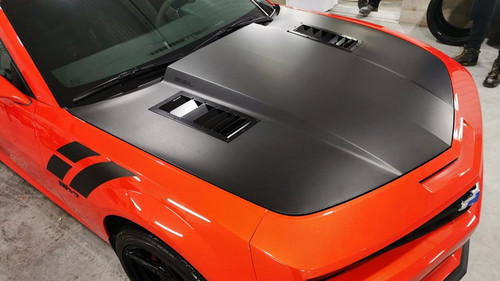 Race Louver Camaro RS trim straight angular pair car hood vent designed for street, high performance driving and light track duty.