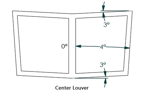 Center Hood Louver Rear Notch/Blanker, RS Street Trim