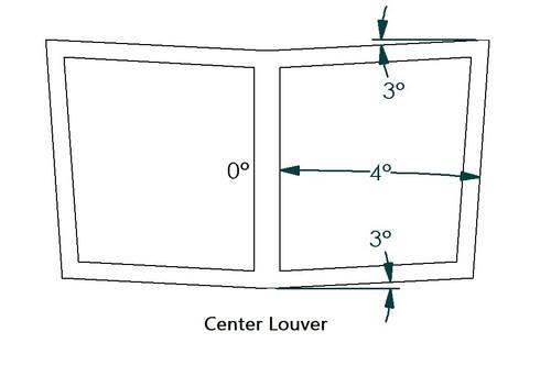 Center Hood Louver Rear Notch/Blanker, RT Track Trim