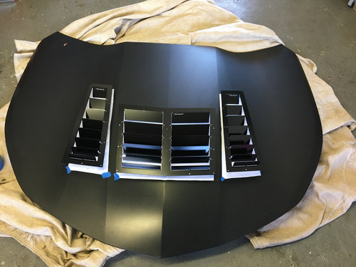 Race Louver Camaro RS street trim side hood vent designed for street, high performance driving and light track duty.