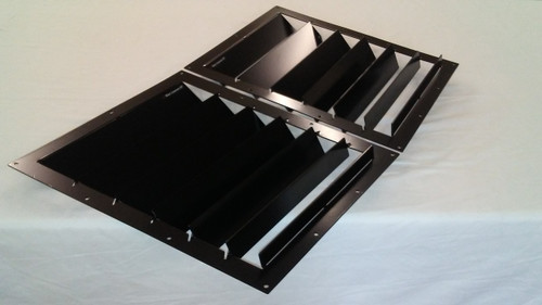 Race Louver 1994-1998 Mustang RT trim center pair car hood extractor is designed for street, high performance driving and track duty.