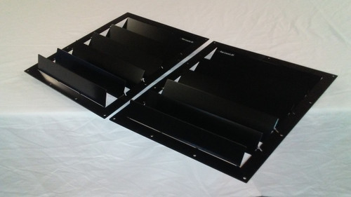 Race Louvers 1994-1998 Mustang RX trim center pair racing heat extractor is designed for high performance driving, auto cross and track duty.