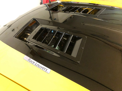 Race Louver Recessed trim mid pair car hood vent designed for street, high performance driving and light track duty.