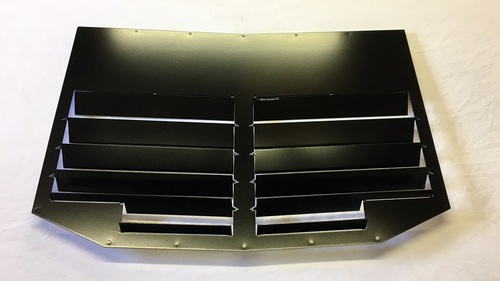 Race Louver Type R RT trim straight angular pair car hood extractor is designed for street, high performance driving and track duty