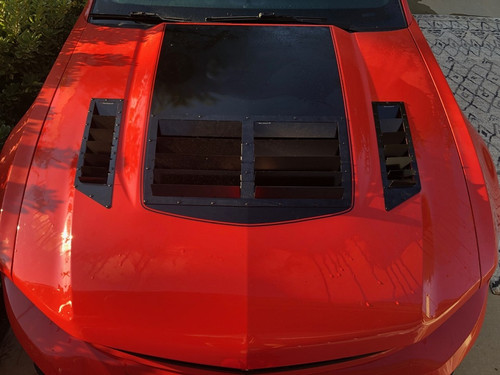 Race Louver Mustang RS trim center car hood vent designed for street, high performance driving and light track duty.