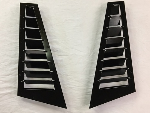 Race Louvers Fender Louvers designed to increase engine and brake cooling while increasing front downforce