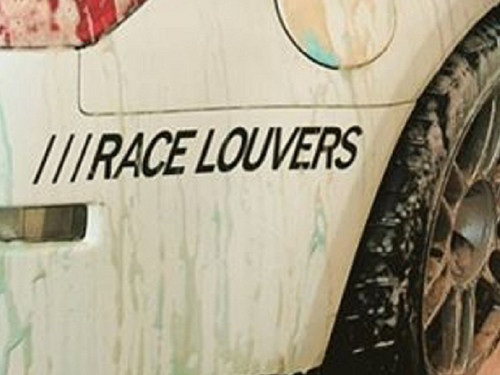 "Race Louver Decals - 1""x8"" Black"