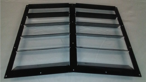 Race Louvers 968 RX Extreme Trim center heat extractor is designed for high performance driving, auto cross and track duty.