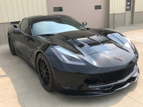 Race Louver C7 Corvette RT Track Trim center car hood extractor is designed for street, high performance driving and track duty