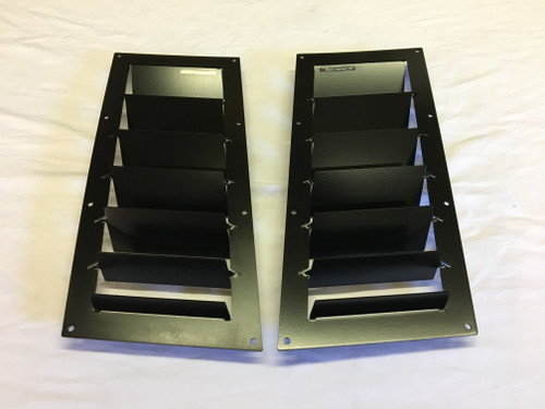 Race Louver Supra RT trim straight angular pair car hood extractor is designed for street, high performance driving and track duty.