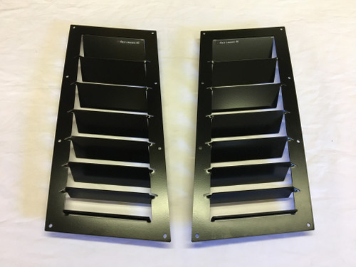Race Louver BMW Z4 Nasa ST/TT3-6 Spec straight angular pair car hood vent designed for street, high performance driving and light track duty.