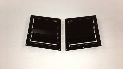 Race Louver RS trim middle pair car hood vent designed for street, high performance driving and light track duty.