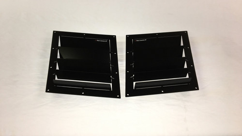 Race Louver RT trim middle pair car hood vent designed for street, high performance driving and light track duty.