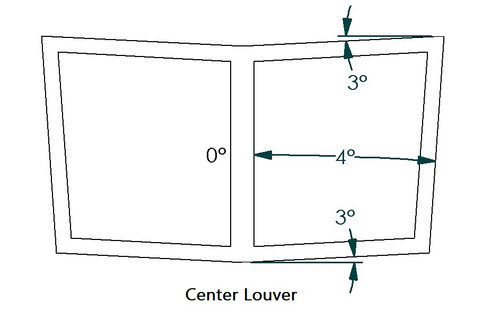IS Series '06-20 Large Center Hood Louvers, Nasa ST/TT3-6 Spec