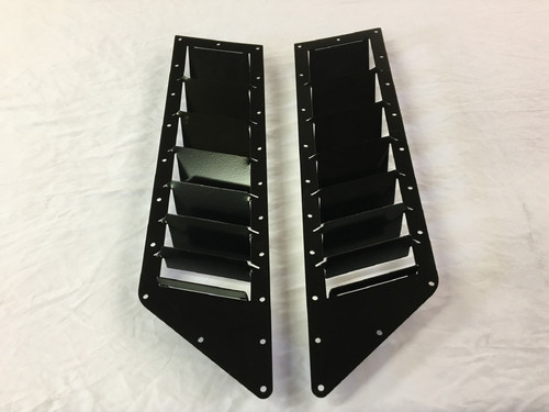 Race Louver 370Z RS trim side hood vent designed for street, high performance driving and light track duty
