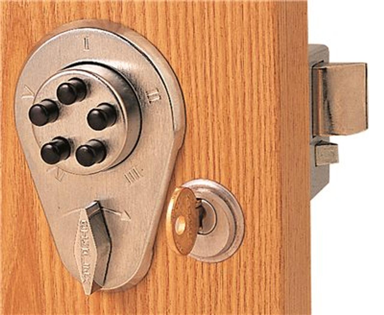 Kaba Simplex 900 Series 9380000 Pushbutton Lock w/Key Override