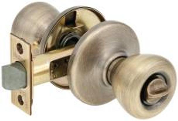 Kwikset 300T Privacy Knob Antique Brass