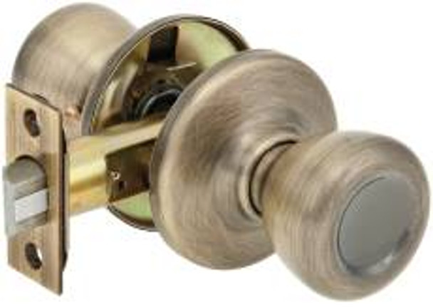 Kwikset 200T5 Passage Knob Antique Brass