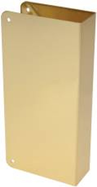 "Wrap Around Door Plate Blank Polished Brass-1-3/8"" THK Door"
