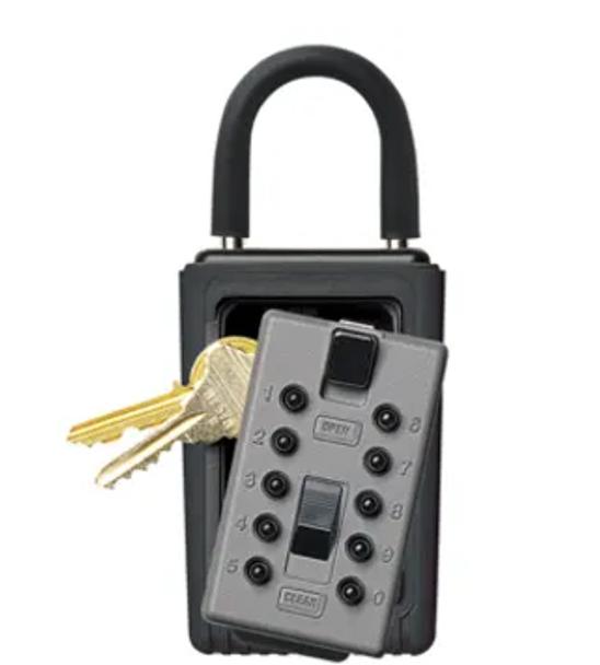 Kidde Portable 3-Key Box with Pushbutton Combination Lock, Titanium Gray