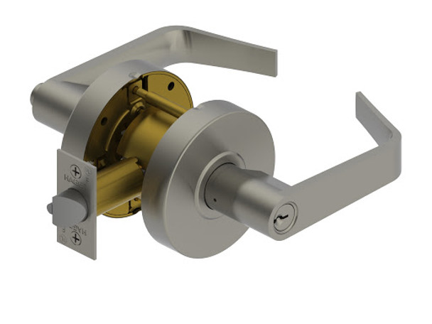 """HAGER 2553- 2-3/4"""" US26D GRADE 2 ENTRY LEVER"""