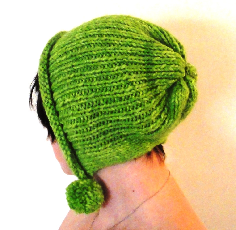 Green Warm Elegant Thin Winter Wool Handmade Hat with Bows - veralis.me 87c0d5b7048