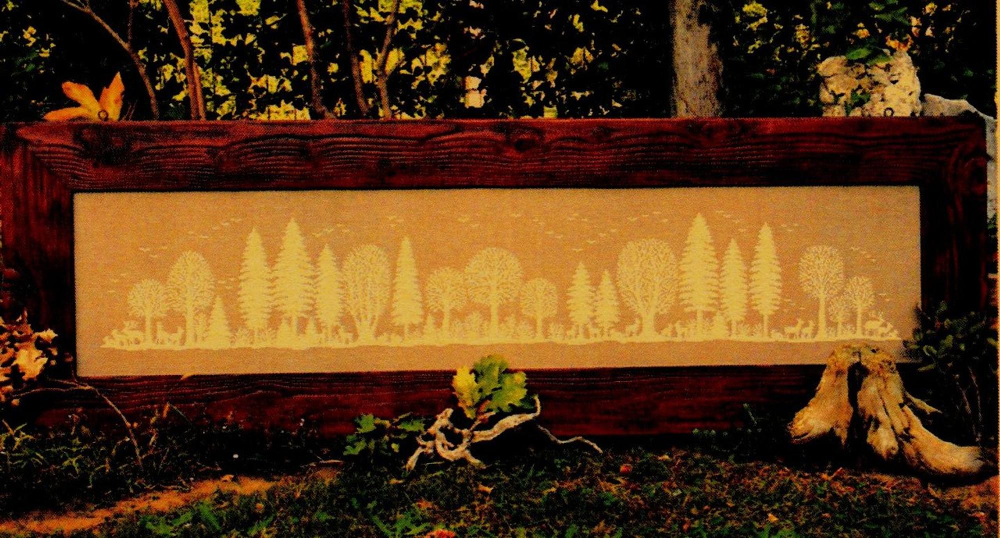 Renato Parolin Cross-Stitch Chart Design La foresta di Fanes