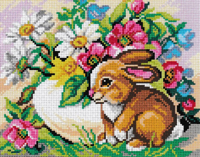 Printed Canvas for Tapestry Embroidery Gobelin Needlepoint Orchidea A Pair of Tits on a Tree 2348