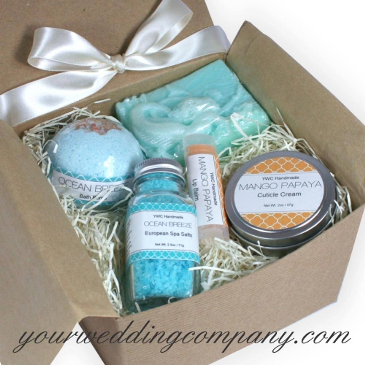 Ocean Breeze Bath Body Gift Set Beach Spa Gift Set Basket