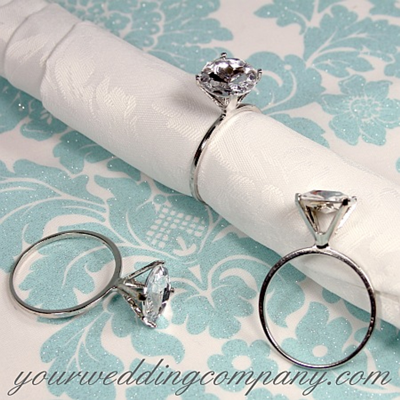 Diamond Ring Napkin Holders Wedding Favor Rings Decoration