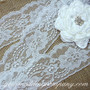 Delicate White Floral Lace (3-in wide)