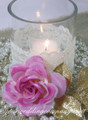 Ivory Floral Lace (3-1/4 in wide) - Wedding Centerpiece