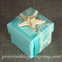 Wedding Favor Box with Knobby Starfish Decoration