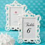 Baroque Design White Frame / Table Number Holder