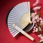 Elegant Silk Fans Wedding Favors
