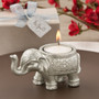 Good Luck Silver Indian Elephant Candle Holder Favor