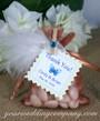 Copper Wedding Favor Bag - White Marabou Feather