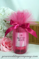 Miniature Wine Bottle Wedding Favor - Hot Pink 15-inch Tulle Circles