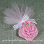 Large Tulle Circles - Rose Soap Wedding Favor Wrapping Idea