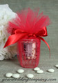 Chicago Shot Glass Wedding Favor - Red 15-inch Tulle Circles