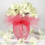 Centerpiece - Glass Wedding Vase Wrapped in 15-inch Tulle Circles