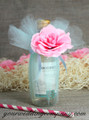 Miniature Wine Bottle Wedding Favor - Aqua 15-inch Tulle Circles