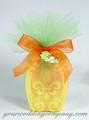 Large Tulle Circles - Mango & Pineapple Soap Wedding Favor Idea
