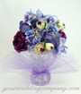 Floral Wedding Centerpiece Accented with Lavender 15-inch Tulle Circles