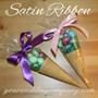 Cone Wedding Favors with Satin Ribbon Ties